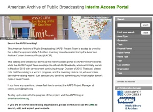 Interim Access Portal Homepage